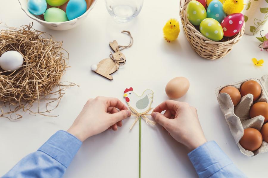 materialer til kreativ påske